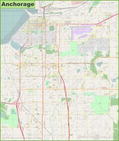 Large detailed map of Anaheim Maps Pinterest Usa cities