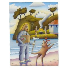 Beach Holiday by Reg Mombassa. Signed limited edition print - buy now from The SMH Shop.