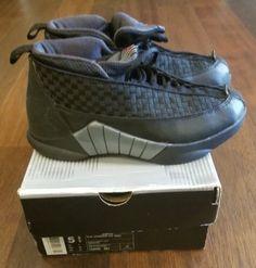 87cd0c43a8b029 Nike Air Jordan 15 XV (BG) OG Black Varsity Red Sz 5.5y (134090 061) 2000  releas (eBay Link)