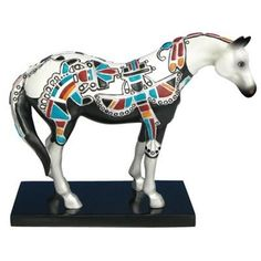 "Trail of Painted Ponies June 2009 Herd  ZUNI SILVER PONY  Resin  Height: 6""    1st Editions only    Your Price: $39.50"