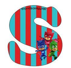 Hermoso Abecedario de los Héroes en Pijamas, o Pj Masks, como más te guste llamarlo. Todas las letras que contienen aCatboy, Gekko y Owlette se encuentran subidas al sitio en perfecta calidad de i… Pj Mask, Mask Party, Peppa Pig, Party Time, Birthdays, Banner, Printables, Symbols, Masks