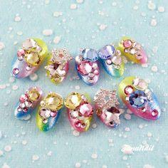 Handmade Japanese 3D nail - Rainbow Fairy  http://www.tananail.com/Japanese-3D-Nails/1231-Rainbow-Fairy.html