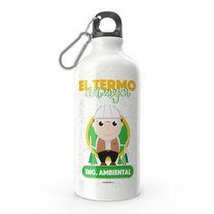 Termo - El termo del mejor ingeniero ambiental, encuentra este producto en nuestra tienda online y personalízalo con un nombre. Snoopy, Fictional Characters, Engineer, Carton Box, Store, Crates, Fantasy Characters