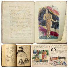 Cahier d'artiste #PaulGauguin via Fan di Philippe Daverio