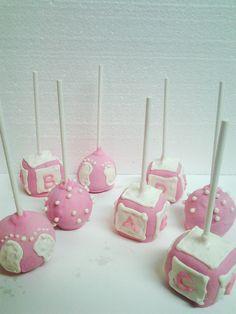 "Sugar Krystle's Cake Pops - ""It's a Girl""!  www.sugarkrystles.com"