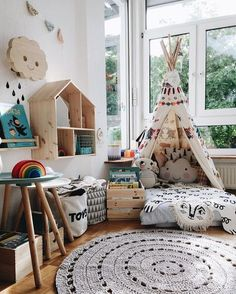 Creating a cosy reading corner can be easily done in even the smallest spaces http://petitandsmall.com...