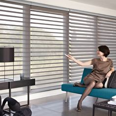 Motorised Silhouette Shades... theyre the best :)
