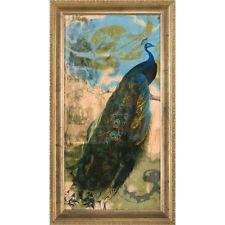 Ashton Art & Décor Embellished Peacock I Framed Painting Print