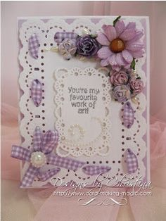 Flowers, Ribbons and Pearls: A2 Card Video ...