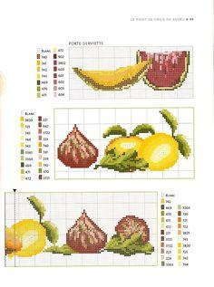 asciugapiatti punto croce anguria e melone (3)