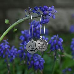 Love and Justice Earrings - Stand up for justice for those who cannot stand up for themselves. These earrings remind you to fight for those who are unjustly treated in life.