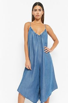 Chambray Culotte Jumpsuit | Forever21