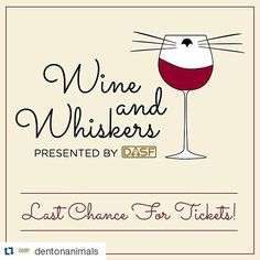 #Repost @dentonanimals  Wine and Whiskers is THIS Thursday from 6pm to 8pm!  You can purchase your tickets online at ift.tt/1ruYj00.  Don\'t miss out on this fun event for great cause! #dentonslacker #dentonanimalsupportfoundation #dentonanimals #dasf #denton #dentontx #dentoning #dentonite #thedentonite #wddi #wedentondoit #unt #twu #nctc