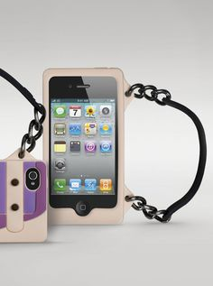 Cover for iPhone 4/4S – Satchel Light Peach and Purple special 25.99€
