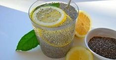 Chia water with lemon eliminates accumulated fat and irritates .- Chia Wasser mit Zitrone beseitigt angesammeltes Fett und reinigt den Körper in … Chia Water with Lemon eliminates accumulated fat and cleanses the body in just three days Detox Drinks, Healthy Drinks, Healthy Recipes, Healthy Food, Healthy Weight, Tea Drinks, Delicious Recipes, Beverages, Weight Loss Drinks