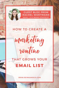 You know you need a system and routine for all your marketing efforts. Because right now it feels like #allthethings. And it's preventing you from doing all the moving pieces necessary to look like you know what you're doing.  I've created a step-by-step summary of what you can do to put your marketing efforts in place in an organized manner and create a stellar marketing routine. Reina + Co | Life + Biz Success Coaching Ⓡ