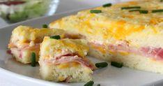 pastel de pan de molde, pastel al horno, pastel de jamón y queso, Julia y sus recetas