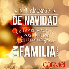 Mi deseo de navidad es tener muchos años de vida y salud para disfrutar de mi familia. Feliz Navidad a todas y todos. Disfrutad cada momento de la vida, amad y sed amados y no olvidéis de dar gracias todos los dias.