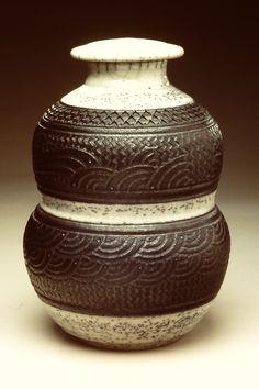 Black & White Designed Pot, ©2012, Charles Smith.