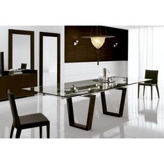 Mesa de comedor extensible Targa.