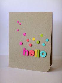 Foam letters & card stock = homemade cards Great for kids Cool Cards, Diy Cards, Tarjetas Diy, Karten Diy, Card Making Inspiration, Paper Cards, Greeting Cards Handmade, Simple Handmade Cards, Creative Cards