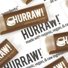HURRAW Coffee Bean Lipbalm | 100% Natuurlijk & Vegan - De Groene Drogist Prunus, Vaseline, Coffee Beans, Lip Balm, Alcohol, Vegan, Rubbing Alcohol, Petroleum Jelly, Peach