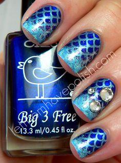 Let them have Polish!: Nail Stamping  Mermaid nails