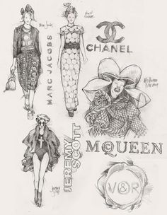 Chanel fashion illustrations ♥ #illustration #fashion #art