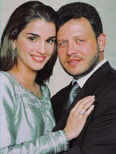 Queen Rania and King Abdullah of Jordan