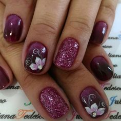 Makeup & Nails 55 Perfect Nail Art Design for Women in Autumn Women's Work Jackets By Dickies There Fingernail Designs, Toe Nail Designs, Flower Nail Designs, Pink Nail Art, Flower Nail Art, Pink Nails, Butterfly Nail Art, Fabulous Nails, Gorgeous Nails