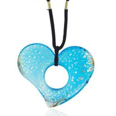 Pugster Murano Glass Sterling Silver Speckled Bright Blue Heart Pendant Necklaces Pugster. $21.59. Made in China. Gorgeous for gifts. Perfect for Women, girls. Murano glass pendant. Excellent for all ages and any occasion. Save 58% Off!
