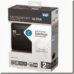 Western Digital My Passport Ultra - External Hard Drive 2TB (USB 3.0 - WDBMWV0020BBK-NESN)