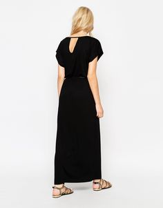 Image 2 ofOasis Oasis Thigh Split Belted Maxi Dress