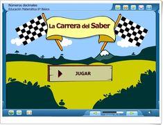 "La Carrera del Saber: ""Números decimales"" (Juego de Matemáticas de Primaria) Decimal, Maths, Learning Numbers, Cooperative Learning, Math Projects, Interactive Activities, Maths Area, Math Games, Teaching Resources"