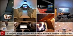 Look at that uplighting!  16 Simple, Elegant and Affordable Home Cinema Room Ideas