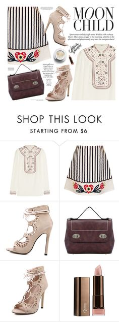 """Embroidered love"" by mihreta-m ❤ liked on Polyvore featuring Vilshenko, H&M and COVERGIRL"