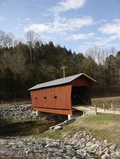 The Bible Covered Bridge in Greene County near Greeneville, TN. in the upper part of East Tennessee.  The bridge was built by the E.A Bible family in 1923 to access their farm.