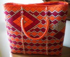 borsa arancio-rosso