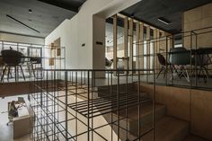 The interior of a postproduction studio FRAMEHOUSE is located in a renovated multifunctional building on Miletičova street in Bratislava. Studio covers an ar...