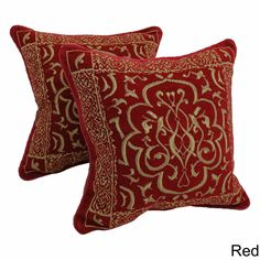These elegant throw pillows will update the look of any couch. The elaborate print and corded edges of the pillows create a unique look. The pillows come in many different colors to allow you to find the perfect ones to pair with your home decor.