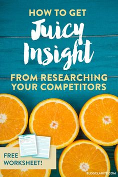 How to Get Juicy Insight from a Competitive Analysis Business Advice, Online Business, Business Coaching, Small Business Marketing, Online Marketing, Digital Marketing, Content Marketing, Marketing Tools, Affiliate Marketing