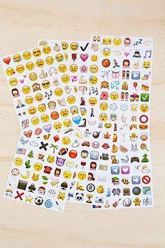 Emoji Sticker Sheet Set, $12, urbanoutfitters.com   - Seventeen.com