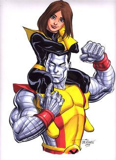 Kitty Pryde and Colossus by Scott Dalrymple