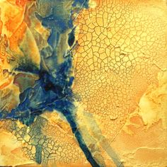 Original mixed media abstract painting River Run.