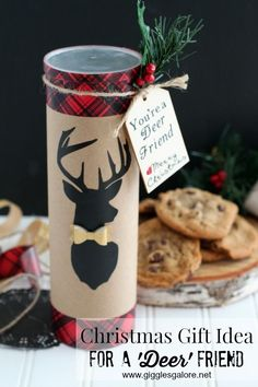 "Spread some holiday cheer with a special Christmas Gift for Friends with these adorable ""You're a Deer Friend' Cookies"