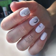 30 Manis That Will Make You Adore Squoval Nails Black and White Short Nail Designs picture 3 Nail Shapes Squoval, Acrylic Nail Shapes, Fall Acrylic Nails, Nails Shape, Fall Nails, Minimalist Nails, Jolie Nail Art, Moon Nails, Dream Nails
