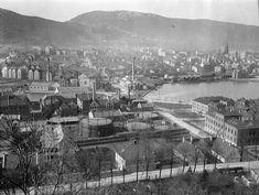 The city of Bergen, Norway in early 1900. Bergen Gassverk - Bergen Byarkiv, City Archive of Bergen
