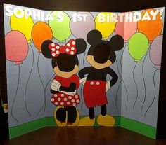 THIS BOARD INCLUDES THE LETTERING & BALLOONS. PLEASE LET ME KNOW WHAT YOUD LIKE IT TO SAY IN THE NOTES SECTION WHEN CHECKING OUT, ALONG WITH WHETHER YOUD LIKE MINNIE IN RED OR PINK. THERE ARE ALSO A FEW OTHER MICKEY & MINNIE DESIGNS AVAILABLE IN MY OTHER LISTINGS. THANK YOU. Like & Share our Facebook page, and receive $10 off your board order!! You must contact us before your order is complete, to receive the coupon code. We cannot apply the discount after payment has been made. N...