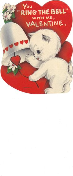 """Ring the Bell"" Valentine Bookmark"