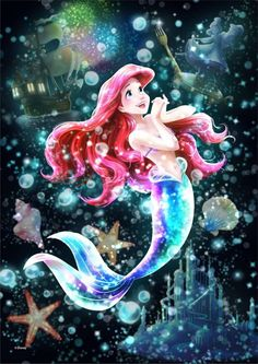 ARIEL Wallpaper : Tenyo Japan Jigsaw Puzzle Disney Little Mermaid Ariel Stained Glass … – Characters Wallpaper Princesa Ariel Disney, Disney Princess Ariel, Princess Cartoon, Princes Ariel, Cinderella Art, Princess Luna, Princesses, Ariel Mermaid, Ariel The Little Mermaid